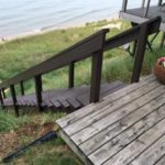 Exterior Staircase Solid Staining